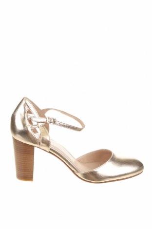 Дамски обувки San Marina, Размер 40, Цвят Златист, Естествена кожа, Цена 38,15лв.