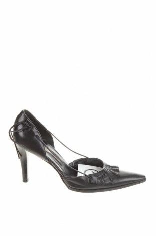 Дамски обувки Sergio Rossi, Размер 37, Цвят Черен, Естествена кожа, Цена 100,80лв.