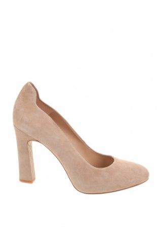 Дамски обувки Unisa, Размер 39, Цвят Бежов, Естествен велур, Цена 47,70лв.