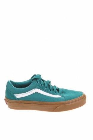 Дамски обувки Vans, Размер 34, Цвят Зелен, Текстил, естествен велур, Цена 33,79лв.