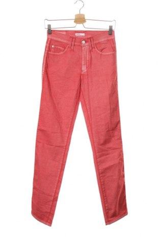 Дамски панталон Angels, Размер XS, Цвят Червен, 96% памук, 4% еластан, Цена 7,61лв.