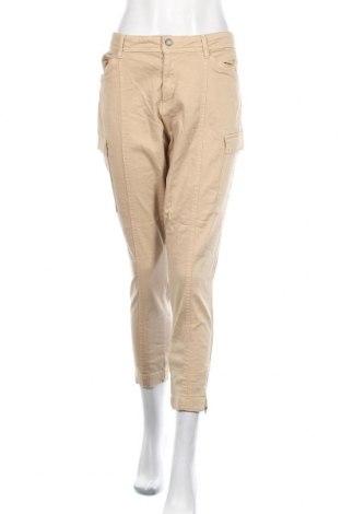 Pantaloni de femei S.Oliver, Mărime XL, Culoare Bej, 97% bumbac, 3% elastan, Preț 77,30 Lei