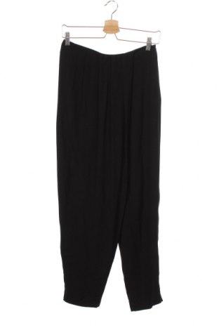 Pantaloni de femei Zara, Mărime XS, Culoare Negru, Viscoză, Preț 19,51 Lei