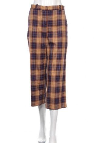 Pantaloni de femei Zara, Mărime L, Culoare Multicolor, 66% poliester, 32% viscoză, 2% elastan, Preț 31,78 Lei