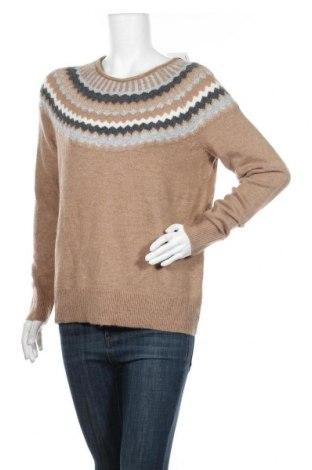 Дамски пуловер Christian Berg, Размер M, Цвят Бежов, 59% полиакрил, 28% полиамид, 8% вълна, 3% еластан, Цена 51,35лв.
