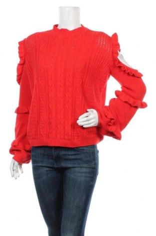 Дамски пуловер Express, Размер L, Цвят Червен, 55% памук, 35% вискоза, 10% полиамид, Цена 19,79лв.