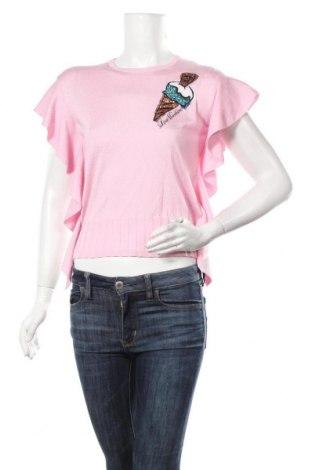 Dámský svetr Love Moschino, Velikost S, Barva Růžová, 62% viskóza, 38% polyamide, Cena  1474,00Kč