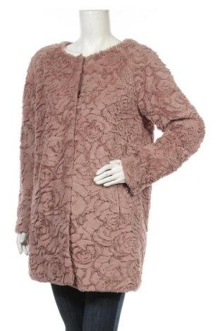Дамско палто Free Quent, Размер L, Цвят Пепел от рози, Полиестер, Цена 15,44лв.