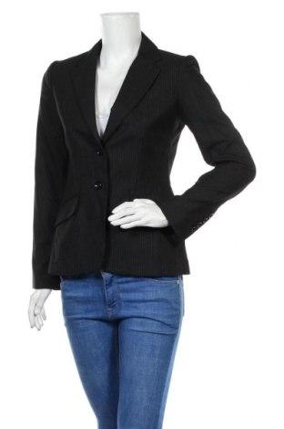 Sacou de femei H&M, Mărime S, Culoare Negru, 63% poliester, 35% viscoză, 2% elastan, Preț 34,74 Lei