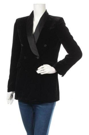 Дамско сако Zara, Размер S, Цвят Черен, Полиестер, Цена 63,00лв.