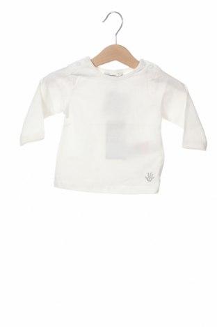 Детска блуза Kanz, Размер 1-2m/ 50-56 см, Цвят Бял, 95% памук, 5% еластан, Цена 3,02лв.