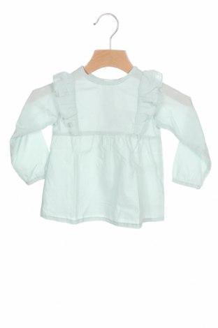 Детска блуза Lola Palacios, Размер 12-18m/ 80-86 см, Цвят Зелен, Памук, Цена 8,97лв.