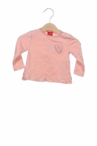 Dziecięca bluzka S.Oliver, Rozmiar 2-3m/ 56-62 cm, Kolor Różowy, Bawełna, Cena 6,99zł