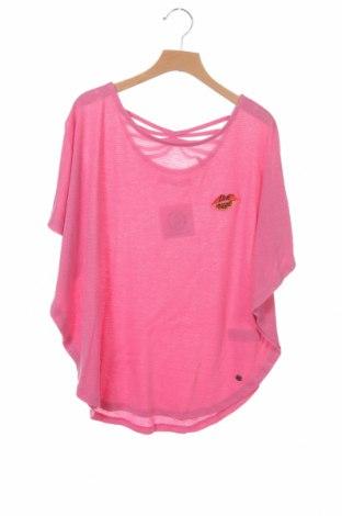 Детска блуза Vingino, Размер 13-14y/ 164-168 см, Цвят Розов, 93% вискоза, 7% метални нишки, Цена 11,02лв.
