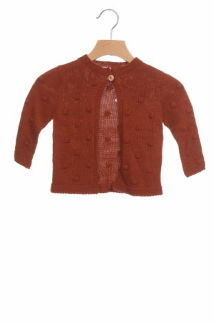 Pulover cu nasturi pentru copii Little Celebs, Mărime 9-12m/ 74-80 cm, Culoare Maro, Acrilic, Preț 48,52 Lei