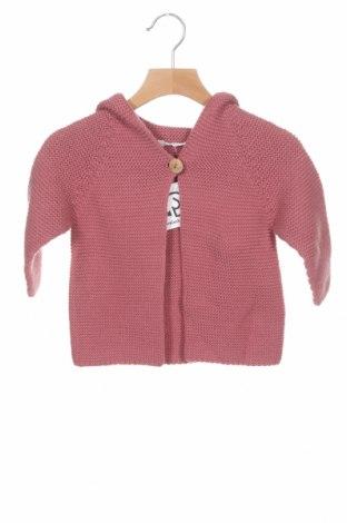 Pulover cu nasturi pentru copii Little Celebs, Mărime 18-24m/ 86-98 cm, Culoare Roz, Acrilic, Preț 52,96 Lei