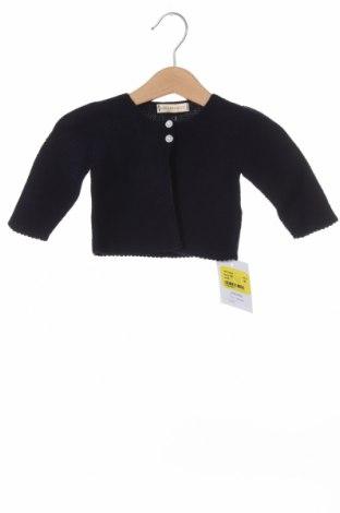 Pulover cu nasturi pentru copii Lola Palacios, Mărime 9-12m/ 74-80 cm, Culoare Albastru, Bumbac, Preț 24,87 Lei