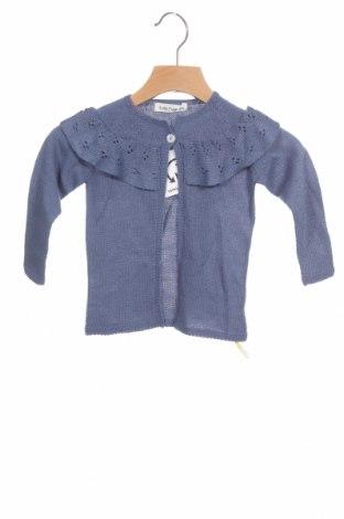 Pulover cu nasturi pentru copii Lola Palacios, Mărime 9-12m/ 74-80 cm, Culoare Albastru, Acrilic, Preț 48,52 Lei