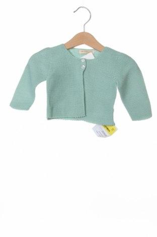 Детска жилетка Lola Palacios, Размер 9-12m/ 74-80 см, Цвят Зелен, Памук, Цена 10,19лв.