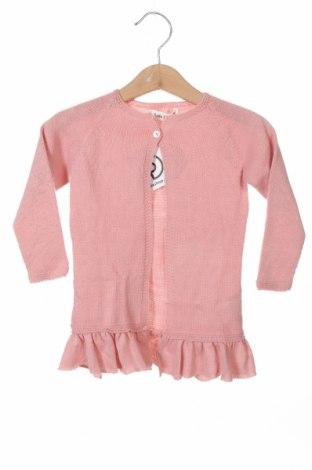 Pulover cu nasturi pentru copii Lola Palacios, Mărime 9-12m/ 74-80 cm, Culoare Roz, Acrilic, Preț 37,83 Lei