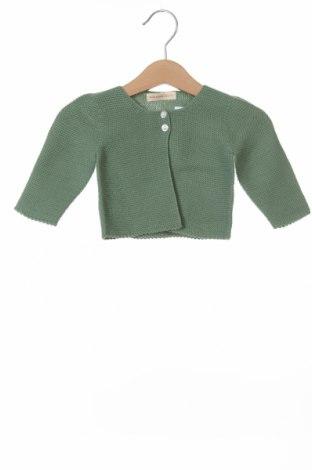 Dziecięcy kardigan Lola Palacios, Rozmiar 9-12m/ 74-80 cm, Kolor Zielony, Bawełna, Cena 25,20zł