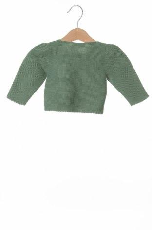 Детска жилетка Lola Palacios, Размер 9-12m/ 74-80 см, Цвят Зелен, Памук, Цена 10,08лв.