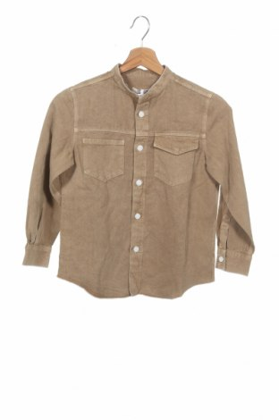 Детска риза Dondup, Размер 4-5y/ 110-116 см, Цвят Бежов, 70% памук, 30% лен, Цена 24,25лв.