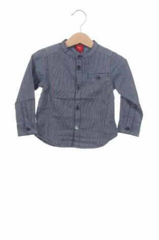 Παιδικό πουκάμισο S.Oliver, Μέγεθος 9-12m/ 74-80 εκ., Χρώμα Μπλέ, 97% βαμβάκι, 3% ελαστάνη, Τιμή 5,41€