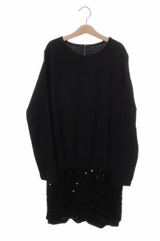 Детска рокля Sisley, Размер 10-11y/ 146-152 см, Цвят Черен, Памук, Цена 22,40лв.