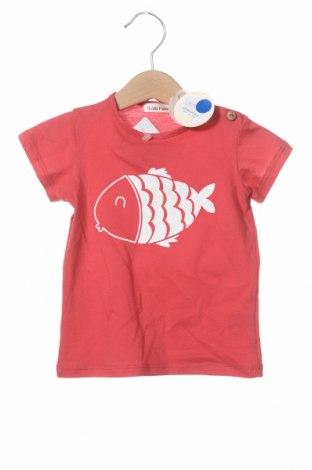 Детска тениска Lola Palacios, Размер 9-12m/ 74-80 см, Цвят Розов, Памук, Цена 11,90лв.