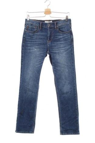 Dziecięce jeansy Abercrombie Kids, Rozmiar 15-18y/ 170-176 cm, Kolor Niebieski, 95% bawełna, 4% poliester, 1% elastyna, Cena 74,25zł