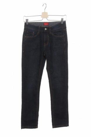 Dětské džíny  S.Oliver, Velikost 10-11y/ 146-152 cm, Barva Modrá, 80% bavlna, 19% polyester, 1% elastan, Cena  220,00Kč