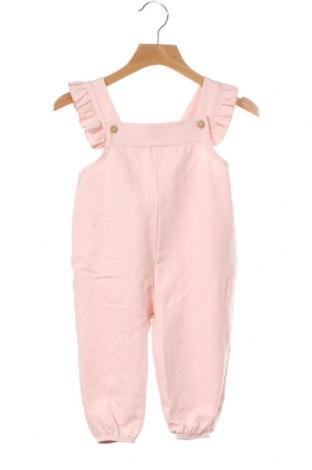 Детски гащеризон Little Celebs, Размер 9-12m/ 74-80 см, Цвят Розов, Памук, Цена 12,48лв.