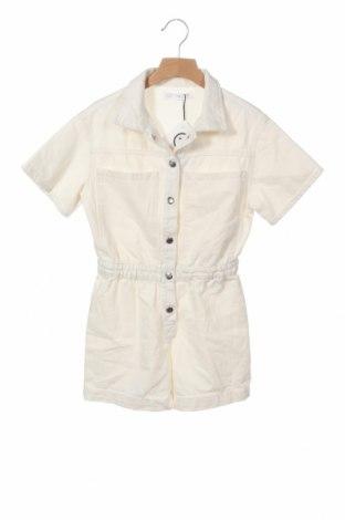 Детски гащеризон Zara, Размер 8-9y/ 134-140 см, Цвят Екрю, 100% памук, Цена 17,55лв.