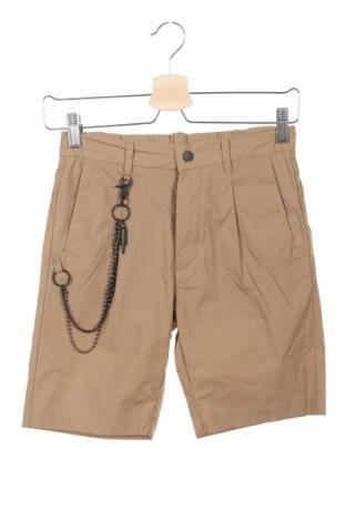 Pantaloni scurți pentru copii Antony Morato, Mărime 9-10y/ 140-146 cm, Culoare Bej, Bumbac, Preț 45,28 Lei