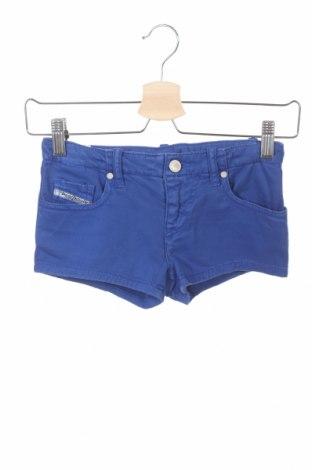 Pantaloni scurți pentru copii Diesel, Mărime 7-8y/ 128-134 cm, Culoare Albastru, 98% bumbac, 2% elastan, Preț 42,34 Lei