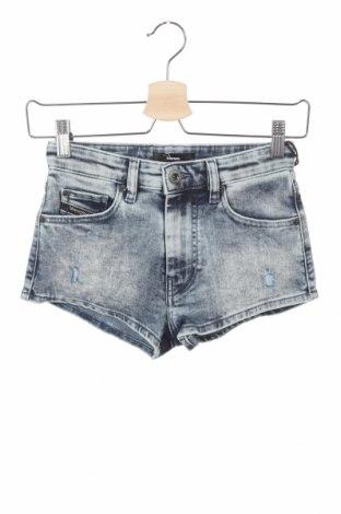 Pantaloni scurți pentru copii Diesel, Mărime 8-9y/ 134-140 cm, Culoare Albastru, 92% bumbac, 6% poliester, 2% elastan, Preț 323,85 Lei
