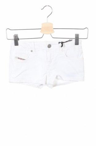 Pantaloni scurți pentru copii Diesel, Mărime 7-8y/ 128-134 cm, Culoare Alb, 98% bumbac, 2% elastan, Preț 45,59 Lei