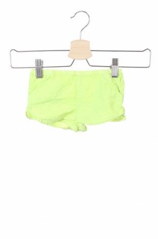 Детски къс панталон Gocco, Размер 9-12m/ 74-80 см, Цвят Зелен, Памук, Цена 3,00лв.