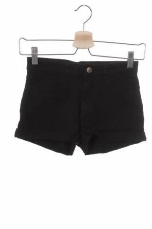 Pantaloni scurți pentru copii H&M, Mărime 10-11y/ 146-152 cm, Culoare Negru, 98% bumbac, 2% elastan, Preț 59,87 Lei