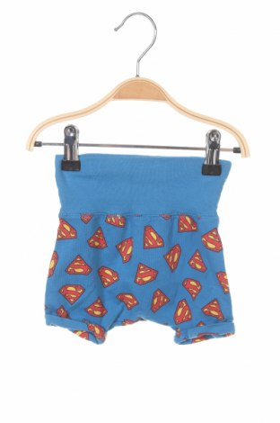Pantaloni scurți pentru copii H&M, Mărime 2-3m/ 56-62 cm, Culoare Albastru, 95% bumbac, 5% elastan, Preț 18,82 Lei