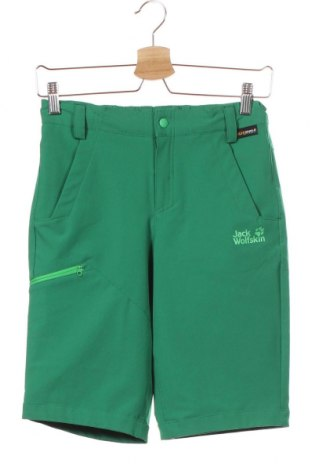 Dětské krátké kalhoty  Jack Wolfskin, Velikost 11-12y/ 152-158 cm, Barva Zelená, 91% polyester, 9% elastan, Cena  431,00Kč