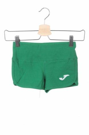 Pantaloni scurți pentru copii Joma, Mărime 11-12y/ 152-158 cm, Culoare Verde, 90% bumbac, 10% elastan, Preț 33,36 Lei