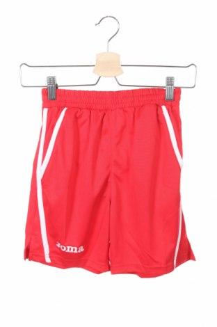 Pantaloni scurți pentru copii Joma, Mărime 6-7y/ 122-128 cm, Culoare Roșu, Poliester, Preț 50,00 Lei