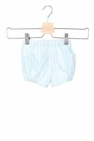 Pantaloni scurți pentru copii Lola Palacios, Mărime 9-12m/ 74-80 cm, Culoare Albastru, 70% bumbac, 30% in, Preț 16,79 Lei