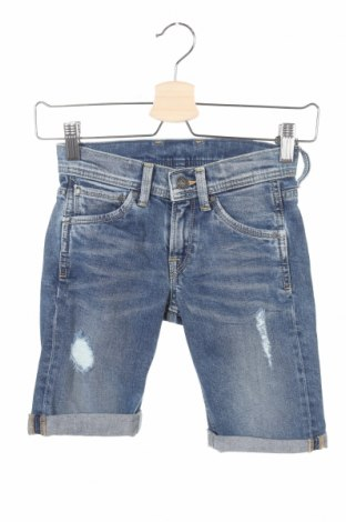 Pantaloni scurți pentru copii Pepe Jeans, Mărime 7-8y/ 128-134 cm, Culoare Albastru, 99% bumbac, 1% elastan, Preț 72,76 Lei