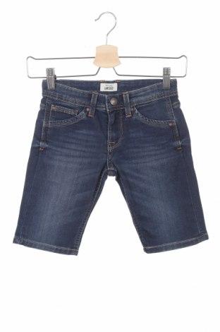 Pantaloni scurți pentru copii Pepe Jeans, Mărime 5-6y/ 116-122 cm, Culoare Albastru, 80% bumbac, 19% poliester, 1% elastan, Preț 62,37 Lei