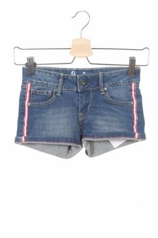 Pantaloni scurți pentru copii Pepe Jeans, Mărime 7-8y/ 128-134 cm, Culoare Albastru, 99% bumbac, 1% elastan, Preț 51,97 Lei