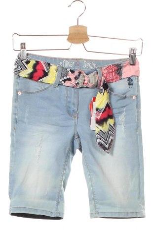 Dětské krátké kalhoty  S.Oliver, Velikost 13-14y/ 164-168 cm, Barva Modrá, 78% bavlna, 20% polyester, 2% elastan, Cena  341,00Kč