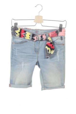 Детски къс панталон S.Oliver, Размер 14-15y/ 168-170 см, Цвят Син, 78% памук, 20% полиестер, 2% еластан, Цена 7,98лв.
